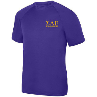 Sigma Alpha Epsilon- $19.95 World Famous Dry Fit Wicking Tee