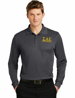 Sigma Alpha Epsilon- $30 World Famous Long Sleeve Dry Fit Polo