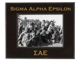 "Sigma Alpha Epsilon 4"" x 6"" Leatherette Picture Frame"