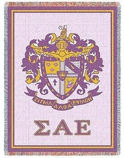 Sigma Alpha Epsilon Afghan Blanket Throw
