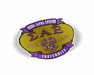 Sigma Alpha Epsilon Banner Crest - Shield Decal