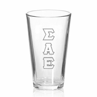 Sigma Alpha Epsilon Big Letter Mixing Glass