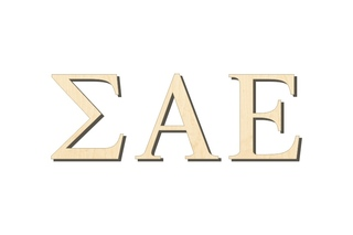 Sigma Alpha Epsilon Big Wooden Greek Letters