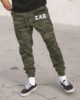 Sigma Alpha Epsilon Camo Fleece Pants