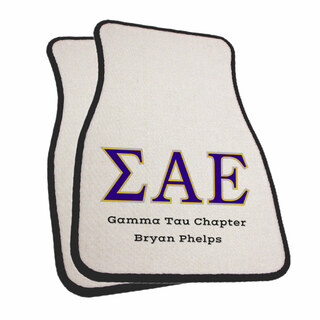Sigma Alpha Epsilon Car Mats