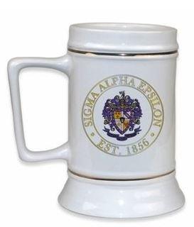 Sigma Alpha Epsilon Ceramic Stein