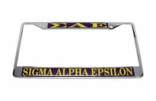 Sigma Alpha Epsilon Metal License Plate Frame