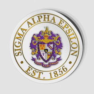 Sigma Alpha Epsilon Circle Crest - Shield Decal