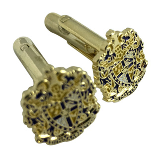 Sigma Alpha Epsilon Color Crest - Shield Cuff links-ON SALE!