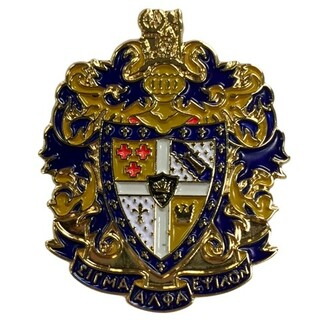 Sigma Alpha Epsilon Color Crest - Shield Pins