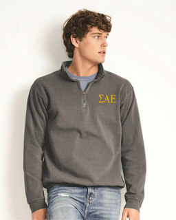 Sigma Alpha Epsilon Comfort Colors Garment-Dyed Quarter Zip Sweatshirt