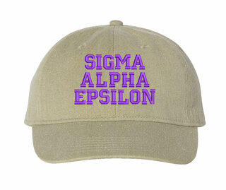 Sigma Alpha Epsilon Comfort Colors Pigment Dyed Baseball Cap