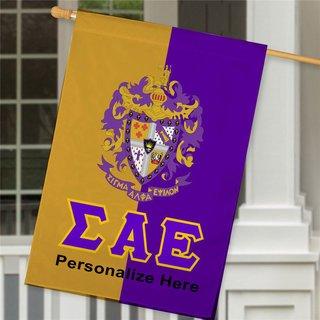Sigma Alpha Epsilon Crest House Flag