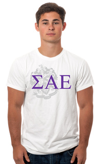 Sigma Alpha Epsilon Crest - Shield Tee
