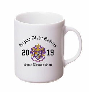 Sigma Alpha Epsilon Crest & Year Ceramic Mug