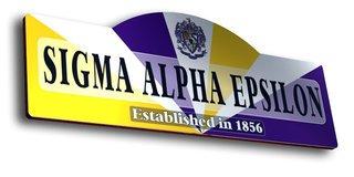 Sigma Alpha Epsilon Display Sign