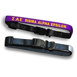 Sigma Alpha Epsilon Dog Collar
