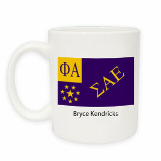 Sigma Alpha Epsilon Flag Coffee Mug
