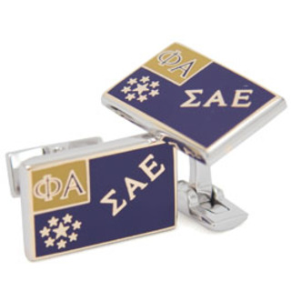 Sigma Alpha Epsilon Flag Cufflinks