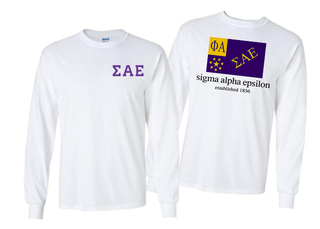 Sigma Alpha Epsilon Flag Long Sleeve T-shirt
