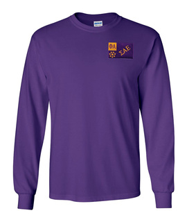 CLOSEOUT - Sigma Alpha Epsilon Flag Patch Long Sleeve Tee