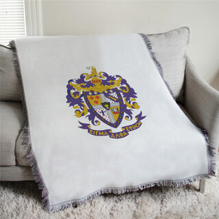 Sigma Alpha Epsilon Full Color Crest Afghan Blanket Throw