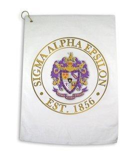 Sigma Alpha Epsilon Giant Crest Golf Towel