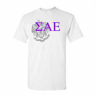 Sigma Alpha Epsilon Greek Crest - Shield T-Shirt