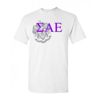 Sigma Alpha Epsilon Greek Crest - Shield T-Shirt