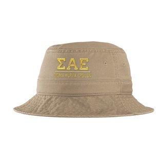 Sigma Alpha Epsilon Greek Letter Bucket Hat