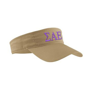 Sigma Alpha Epsilon Greek Letter Visor