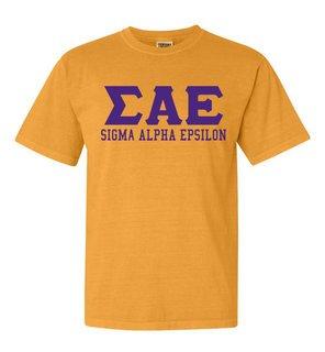 Sigma Alpha Epsilon Greek Custom Comfort Colors Heavyweight T-Shirt