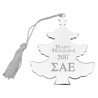 Sigma Alpha Epsilon Holiday Tree Shaped Ornament