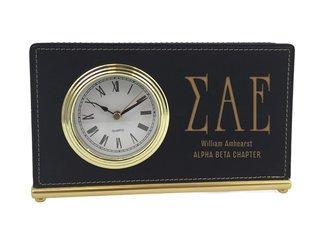 Sigma Alpha Epsilon Horizontal Desk Clock