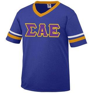 DISCOUNT-Sigma Alpha Epsilon Jersey With Greek Applique Letters