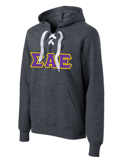 Sigma Alpha Epsilon Lace Up Pullover Hooded Sweatshirt