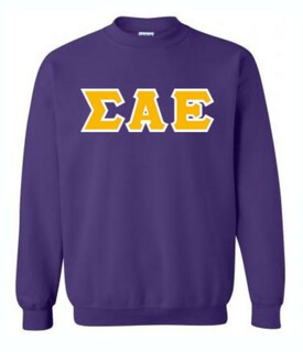 Sigma Alpha Epsilon Sewn Lettered Crewneck Sweatshirt