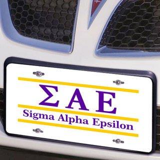 Sigma Alpha Epsilon Lettered Lines License Cover
