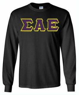 Sigma Alpha Epsilon Lettered Long Sleeve Shirt