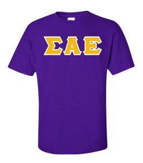 Sigma Alpha Epsilon Sewn Lettered T-Shirt