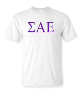 Sigma Alpha Epsilon Lettered Tee - $9.95!