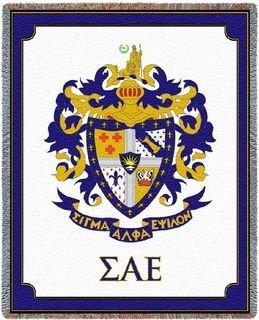 Sigma Alpha Epsilon Letters Afghan Blanket Throw