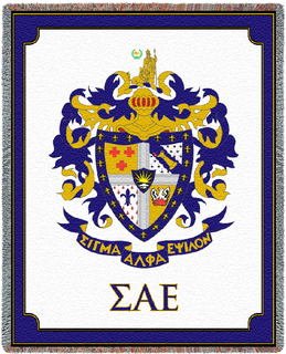 Sigma Alpha Epsilon Letters Afghan Blanket Throw