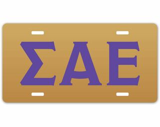 Sigma Alpha Epsilon Greek Letter License Cover