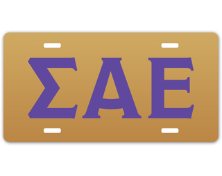 Sigma Alpha Epsilon Greek Letter License Cover