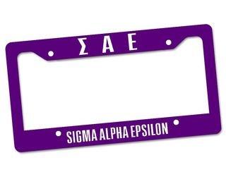 Sigma Alpha Epsilon Custom License Plate Frame