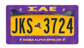 Sigma Alpha Epsilon License Plate Frame