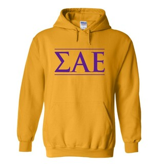 Sigma Alpha Epsilon Logo Hooded Sweatshirt