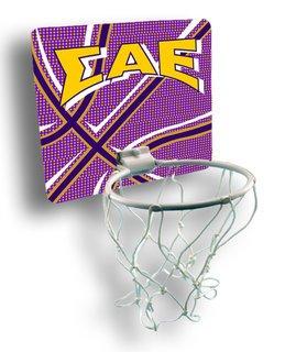Sigma Alpha Epsilon Mini Basketball Hoop