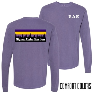 Sigma Alpha Epsilon Outdoor Long Sleeve T-shirt - Comfort Colors
